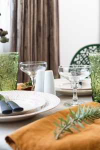 Interior styling for small spaces: close up table styling